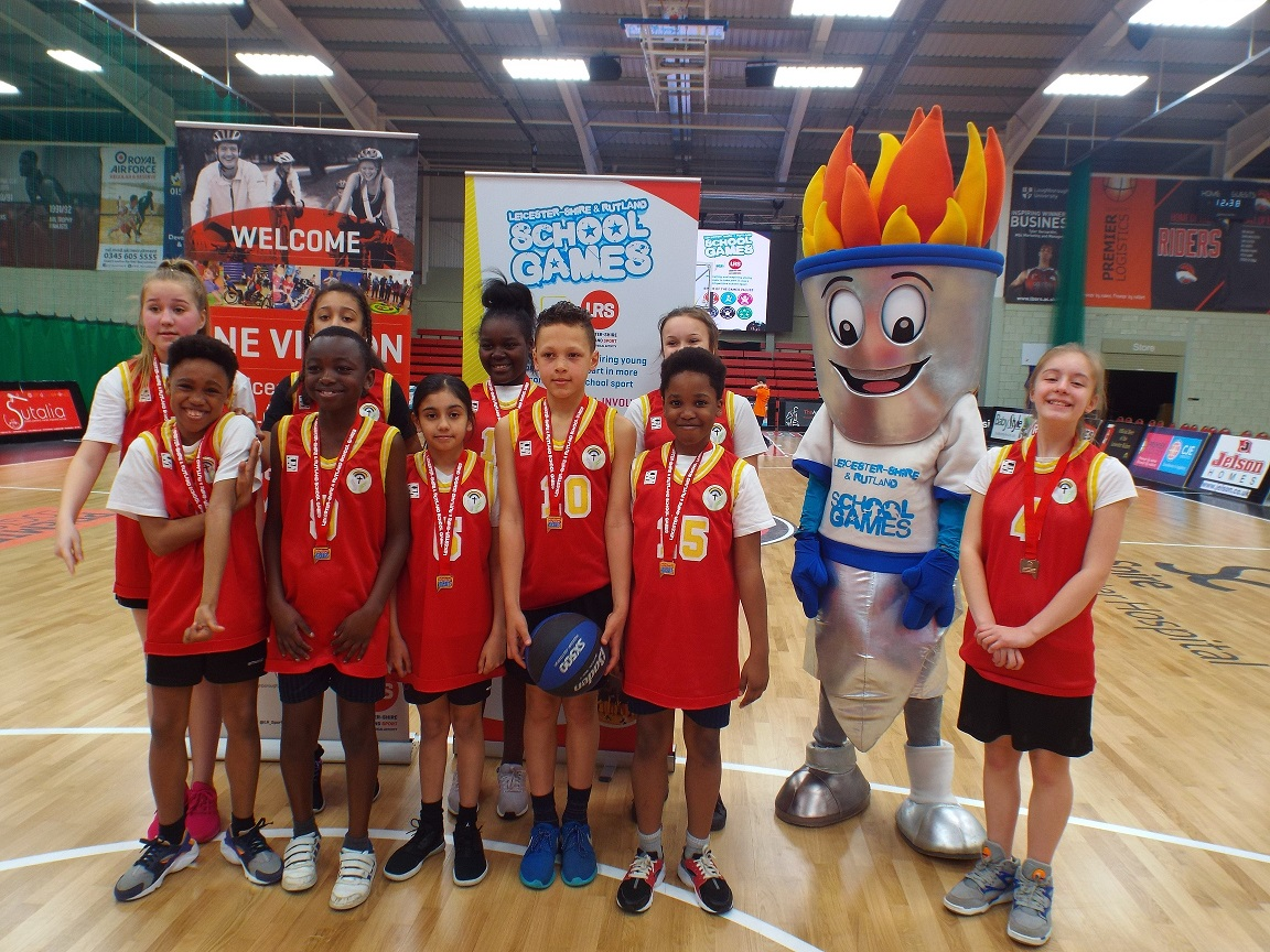 East Leicester - 3rd place at this years School Games Level 3 Primary Basketball Finals
