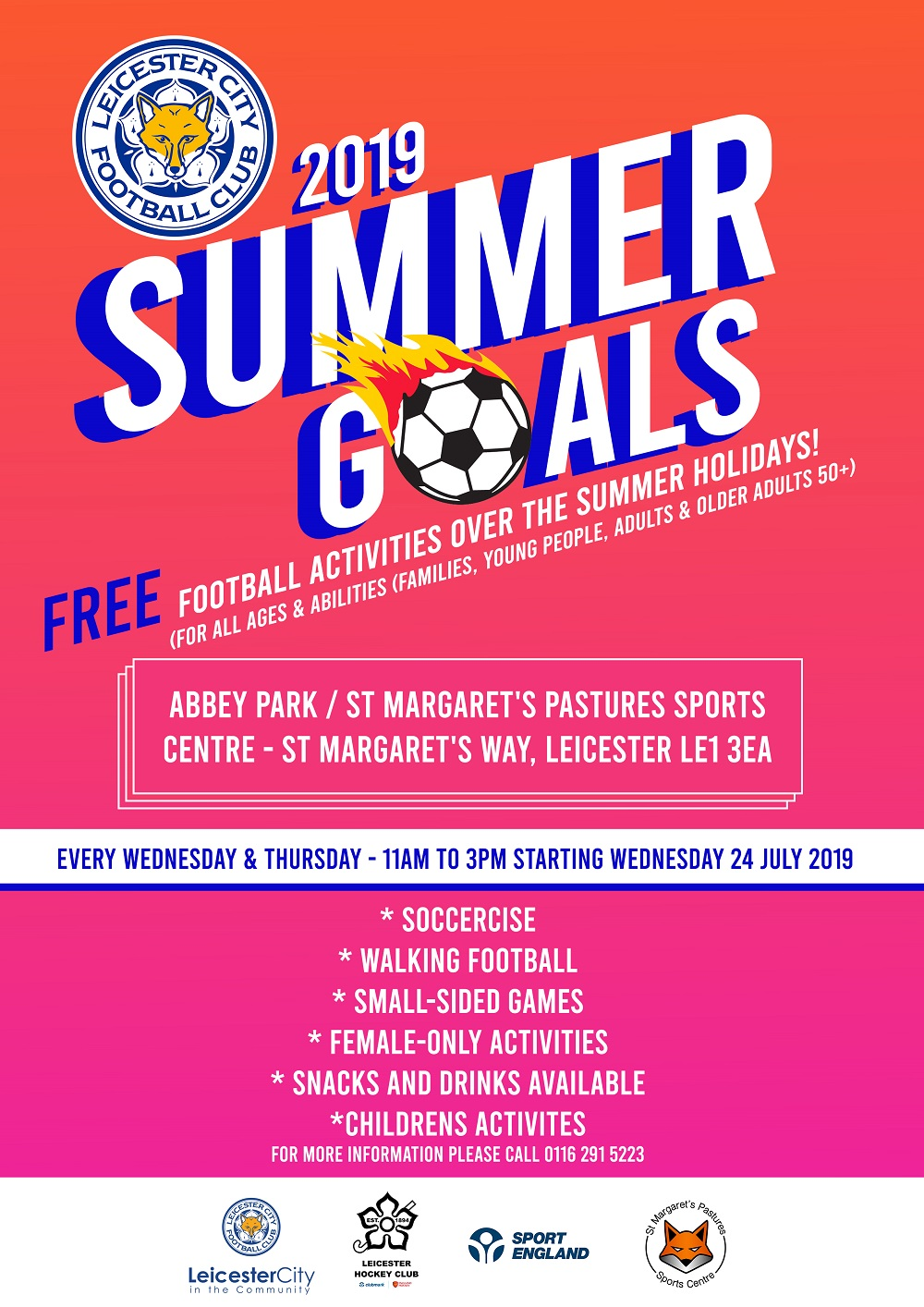 Summer Goals 2019 Abbey Park St Margarets Pastures Sports Centre
